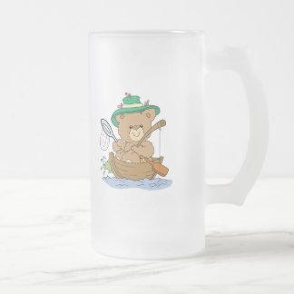 Cute Bear Fishing in Boat Mugs
