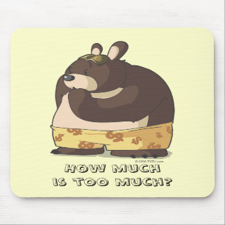 Cute bear funny cartoon anime character mousepad