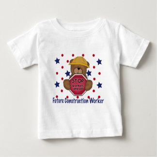 Cute Bear Future Construction Worker Baby T-Shirt