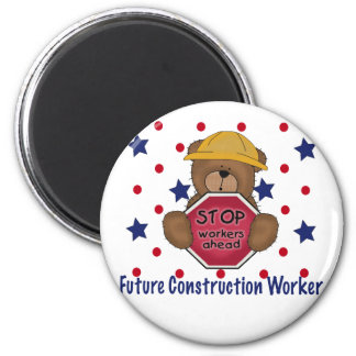 Cute Bear Future Construction Worker Fridge Magnets