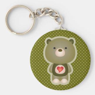 Cute Bear Green Keychain