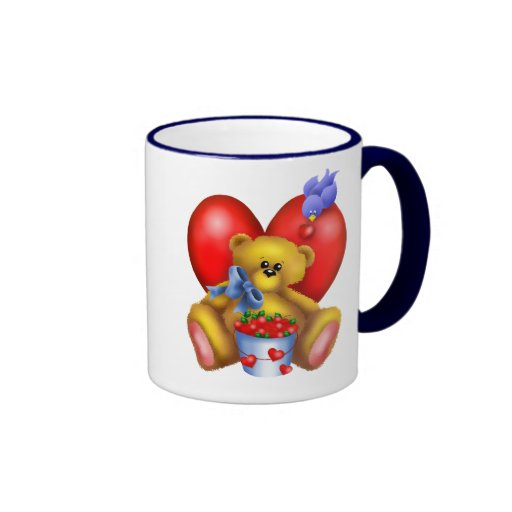 Cute Bear Hearts Mug 1