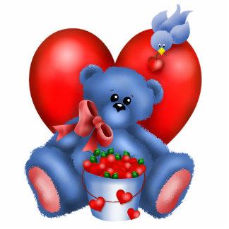 Cute Bear Hearts Photo Sculpture 1