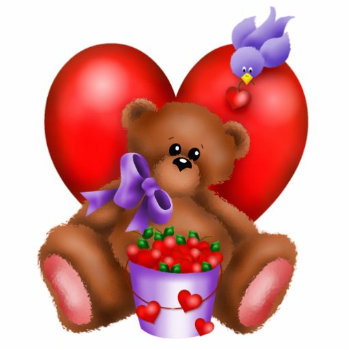Cute Bear Hearts Photo Sculpture 4 Zazzle