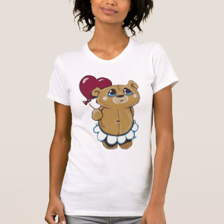Cute Bear Holding Heart Balloon T-Shirt