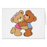 Cute Bear Hug Bears Greeting Card