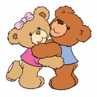 Cute Bear Hug Bears photosculpture
