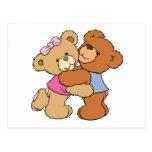 Cute Bear Hug Bears Post Cards