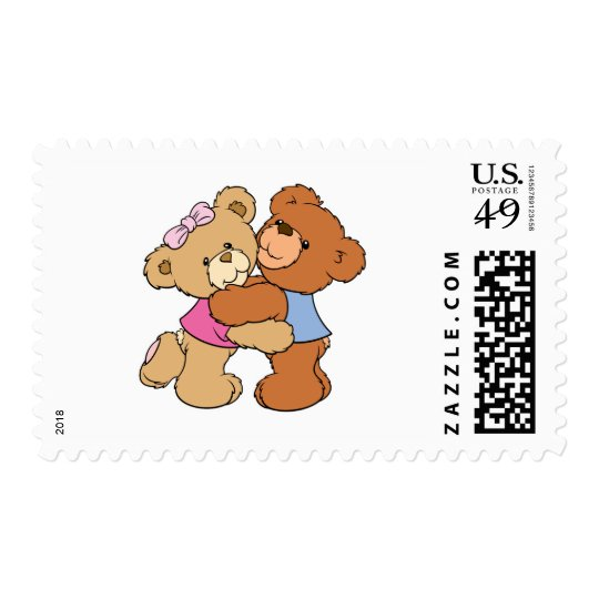Cute Bear Hug Bears Postage