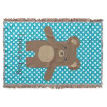 Cute Bear Hug Throw Blanket