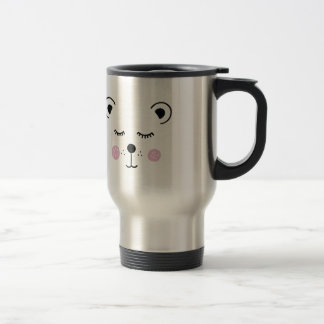 Cute bear illustration travel mug