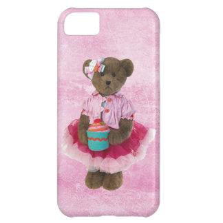 Cute Bear in Pink Tutu with Cupcake iPhone 5C Case