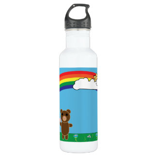 Cute Bear Liberty Bottle 24oz Water Bottle