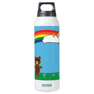Cute Bear Liberty Bottle 16 Oz Insulated SIGG Thermos Water Bottle