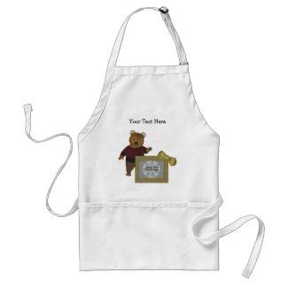 Cute Bear Personalized Photo Apron apron
