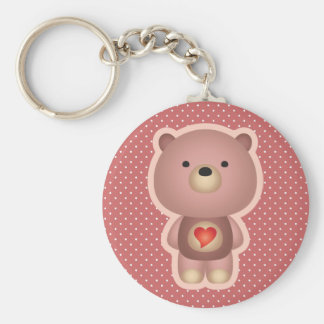Cute Bear Pink Keychain