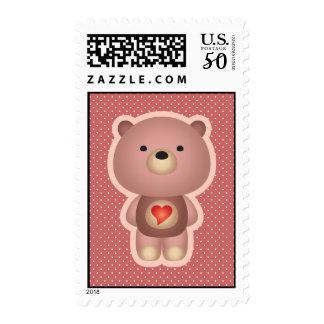 Cute Bear PInk Postage