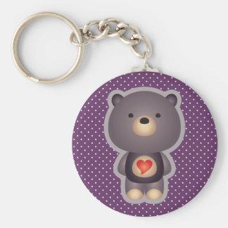Cute Bear Purple Keychains