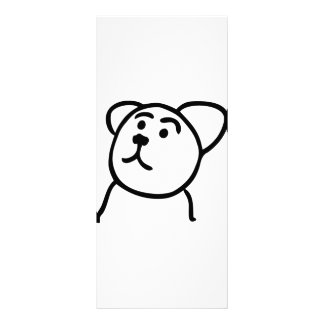 Cute bear rack card template