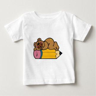 cute bear sleeping on pencil baby T-Shirt