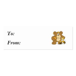 Cute Bear Stealing Honey Business Card