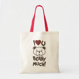 Cute Bear Valentine Tote Bags