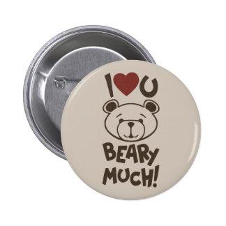 Cute Bear Valentine Buttons