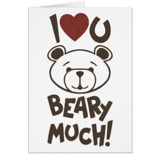 Cute Bear Valentine Cards