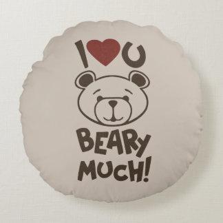 Cute Bear Valentine Round Pillow
