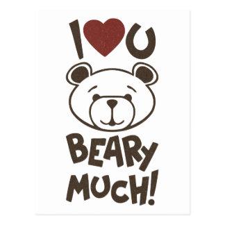 Cute Bear Valentine Postcard