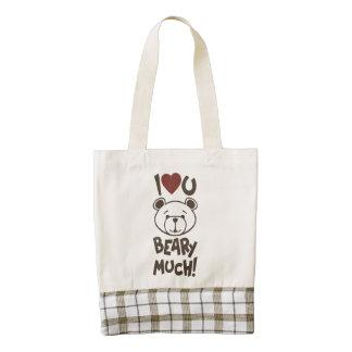 Cute Bear Valentine Zazzle HEART Tote Bag