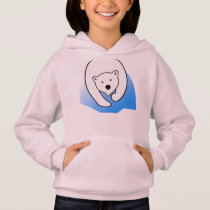 cute bear white polar friend family hoodie