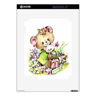 Cute Bear With A Baby Bear iPad 2 Decals