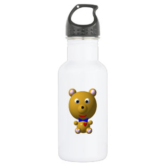 Cute Bear with Bow Tie 18oz Water Bottle