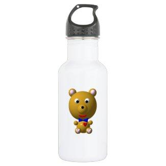Cute Bear with Bow Tie 18oz Water Bottle