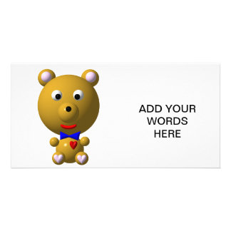 Cute bear with bowtie and heart! card