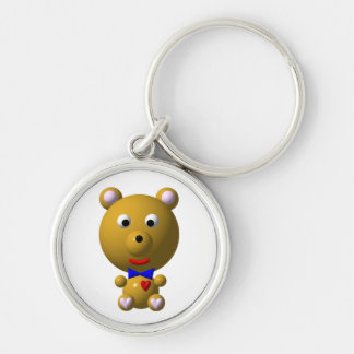 Cute bear with bowtie and heart! keychain