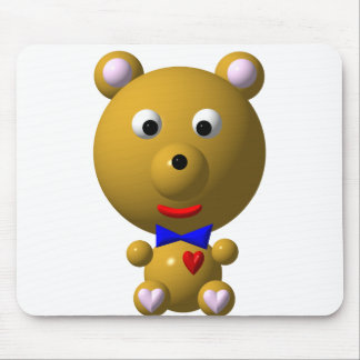 Cute bear with bowtie and heart! mouse pad