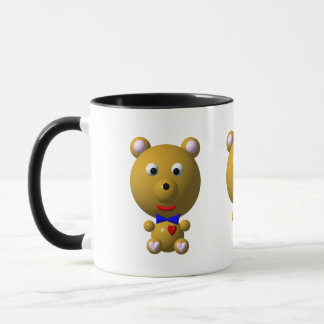 Cute bear with bowtie and heart! mug