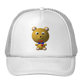 Cute bear with bowtie and heart! trucker hat