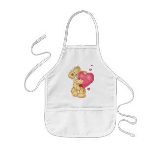 Cute Bear with Hearts Apron