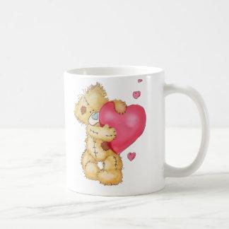Cute Bear with Hearts Coffee Mugs