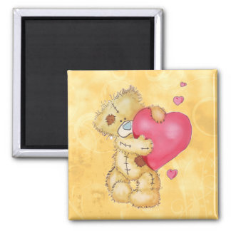 Cute Bear with Hearts Refrigerator Magnet
