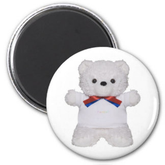 Cute bear with shirt rawr magnet