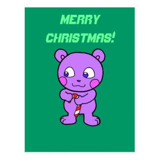 Cute bear xmas postcard