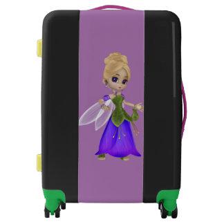 Cute Beautiful Blond Fairy Princess Girl Luggage