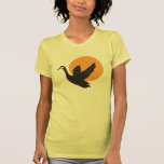 Cute Beautiful Flying Goose Bird and Sunset Tee Shirts