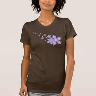 Cute Beautiful Purple Star Flower -  Twofer Sheer T-Shirt