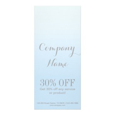 cute beauty Cosmetology SPA girly chic pastel blue Rack Card