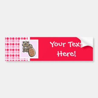 Cute Beaver Car Bumper Sticker